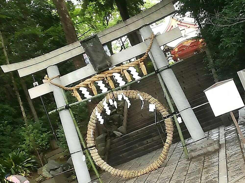 世田谷八満宮の茅の輪