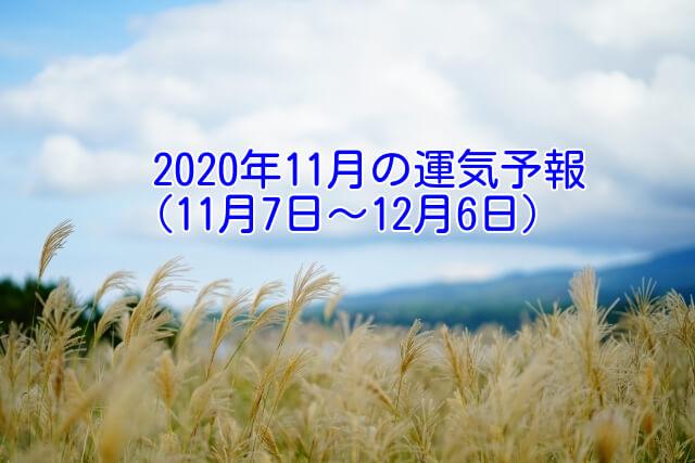 2020年11月の運勢