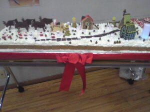 知人たちとのクリスマスパーティーの巨大ケーキ創作指揮